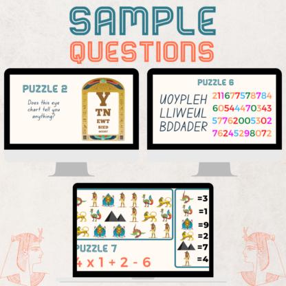 Escape the tomb sample questions