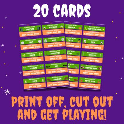 20 danger word cards