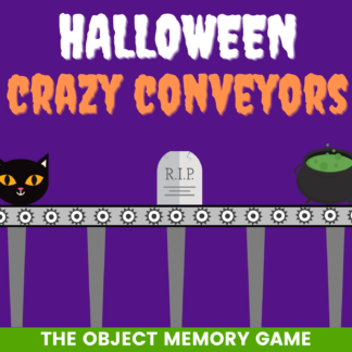 Halloween crazy conveyors: the object memory game