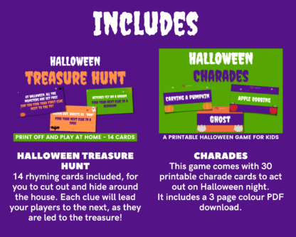 Halloween megapack includes Treasure hunt and charades