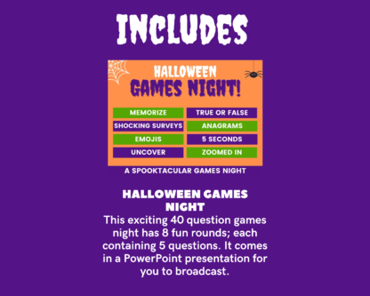 Halloween megapack includes games night