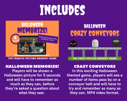 Halloween megapack includes memorize and crazy conveyors