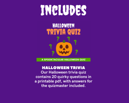 Halloween printable megapack includes trivia quiz