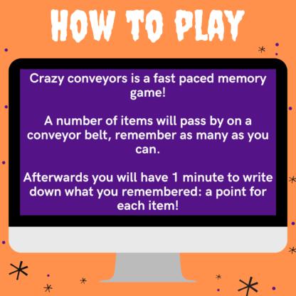 How to play Halloween crazy conveyors